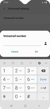 Samsung Galaxy A20e - Voicemail - Manual configuration - Step 11