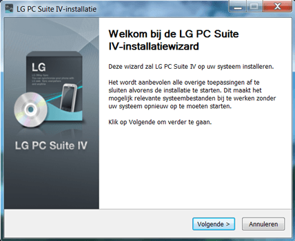 LG K8 - Software - Download en installeer PC synchronisatie software - Stap 3