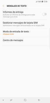 Samsung Galaxy Note 8 - Mensajería - Configurar el equipo para mensajes de texto - Paso 10