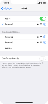 Apple iPhone X - WiFi et Bluetooth - Configuration manuelle - Étape 7