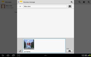 Samsung N8000 Galaxy Note 10-1 - MMS - envoi d'images - Étape 13