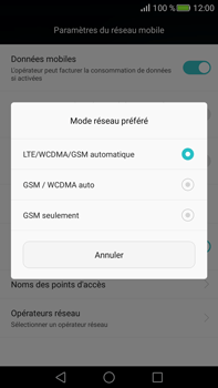Huawei Mate S - Réseau - Changer mode réseau - Étape 6