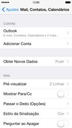 Apple iPhone iOS 8 - Email - Como configurar seu celular para receber e enviar e-mails - Etapa 9