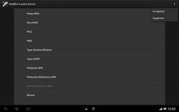 Sony SGP321 Xperia Tablet Z LTE - Mms - Configuration manuelle - Étape 16
