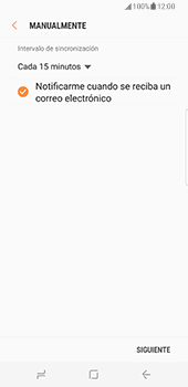 Samsung Galaxy S8 - E-mail - Configurar correo electrónico - Paso 16
