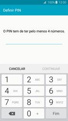 Samsung Galaxy J3 (2016) - Segurança - Como ativar o código de bloqueio do ecrã -  7