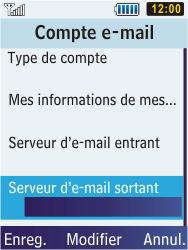 Samsung C3350 Xcover 2 - E-mail - Configuration manuelle - Étape 24