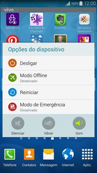 Samsung N910F Galaxy Note 4 - Funções básicas - Como reiniciar o aparelho - Etapa 3