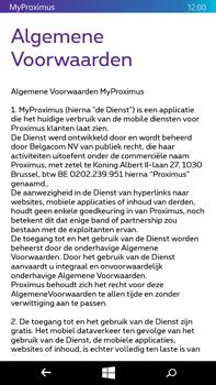 Microsoft Lumia 640 XL - Applicaties - MyProximus - Stap 10