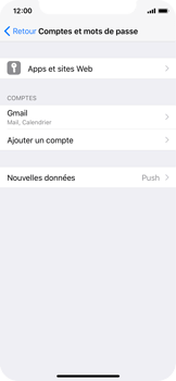 Apple iPhone X - E-mail - Configurer l