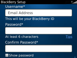 BlackBerry 9360 Curve - BlackBerry activation - BlackBerry ID activation - Step 9