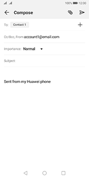 Huawei Mate 10 Pro Android Pie - Email - Sending an email message - Step 7