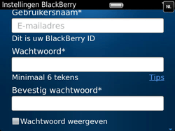 BlackBerry 9790 Bold - BlackBerry activeren - BlackBerry ID activeren - Stap 9