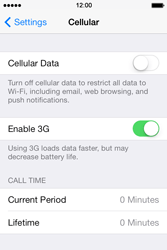 Apple iPhone 4 iOS 7 - Internet - Enable or disable - Step 5