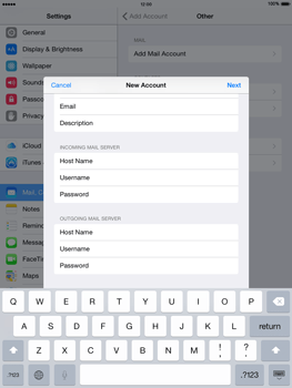 Apple iPad Air iOS 8 - Email - Manual configuration - Step 14