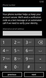 Nokia Lumia 630 - Applications - Create an account - Step 20