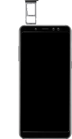 Samsung galaxy-a8-2018-sm-a530f-android-pie - Instellingen aanpassen - SIM-Kaart plaatsen - Stap 9