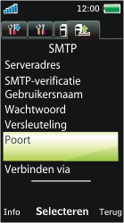Sony Ericsson U10i Aino - E-mail - Handmatig instellen - Stap 19