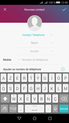 Huawei Y5 II Dual Sim - Contact, Appels, SMS/MMS - Ajouter un contact - Étape 4
