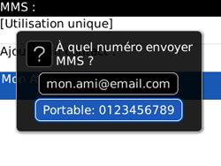 BlackBerry 8520 Curve - Mms - Envoi d