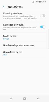 Samsung Galaxy S8 - Red - Seleccionar el tipo de red - Paso 8