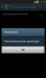 Samsung I8190 Galaxy S III Mini - Voicemail - handmatig instellen - Stap 7
