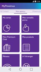 LG X Screen - Applications - MyProximus - Étape 13