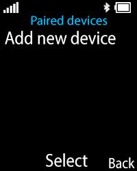 Nokia 108 - WiFi and Bluetooth - Setup Bluetooth Pairing - Step 8
