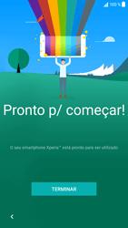 Sony Xperia XZ - Android Nougat - Primeiros passos - Como ligar o telemóvel pela primeira vez -  16
