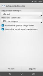 Sony Xperia E4 - Email - Configurar a conta de Email -  17