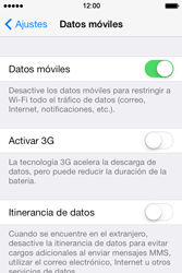 Apple iPhone 4S iOS 7 - Red - Seleccionar el tipo de red - Paso 5