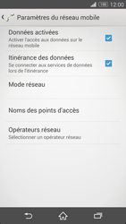 Sony Xpéria Z3 - Aller plus loin - Désactiver les données à l'étranger - Étape 6