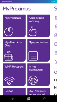 Microsoft Lumia 950 XL - Applicaties - MyProximus - Stap 16