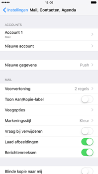 Apple iPhone 6s Plus - E-mail - Account instellen (POP3 zonder SMTP-verificatie) - Stap 14