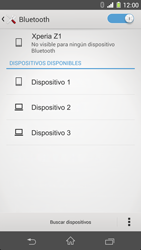 Sony Xperia Z1 - Bluetooth - Conectar dispositivos a través de Bluetooth - Paso 6
