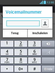 LG E430 Optimus L3 II - Voicemail - handmatig instellen - Stap 9