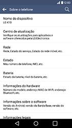 LG K10 - Primeiros passos - Como encontrar o número de IMEI do seu aparelho - Etapa 6