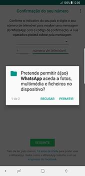 Samsung Galaxy Note 8 - Android Oreo - Aplicações - Como configurar o WhatsApp -  7
