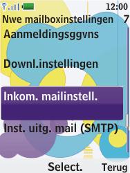 Nokia 7310 supernova - E-mail - Handmatig instellen - Stap 17