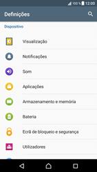 Sony Xperia XZ - Android Nougat - Segurança - Como ativar o código de bloqueio do ecrã -  4