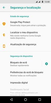 Motorola Moto G6 - Segurança - Como ativar o código de bloqueio do ecrã -  5