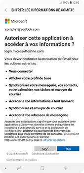 Samsung Galaxy Note9 - E-mail - Configuration manuelle (outlook) - Étape 9