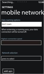 Nokia Lumia 900 - Network - Usage across the border - Step 7