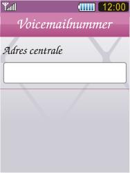 Samsung S7070 Diva - Voicemail - Handmatig instellen - Stap 8