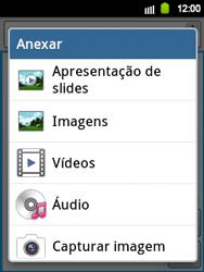 Samsung Galaxy Y - Mensagens - Como criar e enviar mensagens multimídia (MMS) - Etapa 11