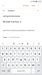 Samsung A320F Galaxy A3 (2017) - Android Nougat - E-mail - Sending emails - Step 18