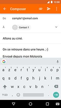 Motorola Moto E4 Plus - E-mails - Envoyer un e-mail - Étape 9