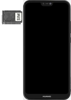 Huawei P20 lite - Premiers pas - Insérer la carte SIM - Étape 5