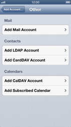 Apple iPhone 5 - Email - Manual configuration - Step 6