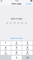 Apple iPhone 7 - iOS 12 - Segurança - Como ativar o código de bloqueio do ecrã -  5